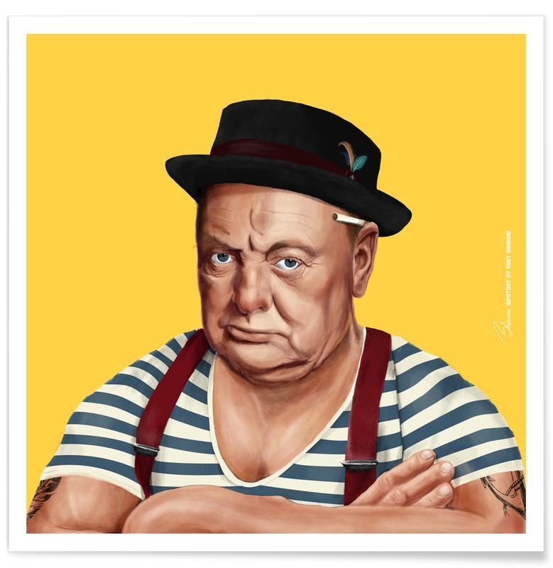 Political Figures, Pop Art, Churchill Poster