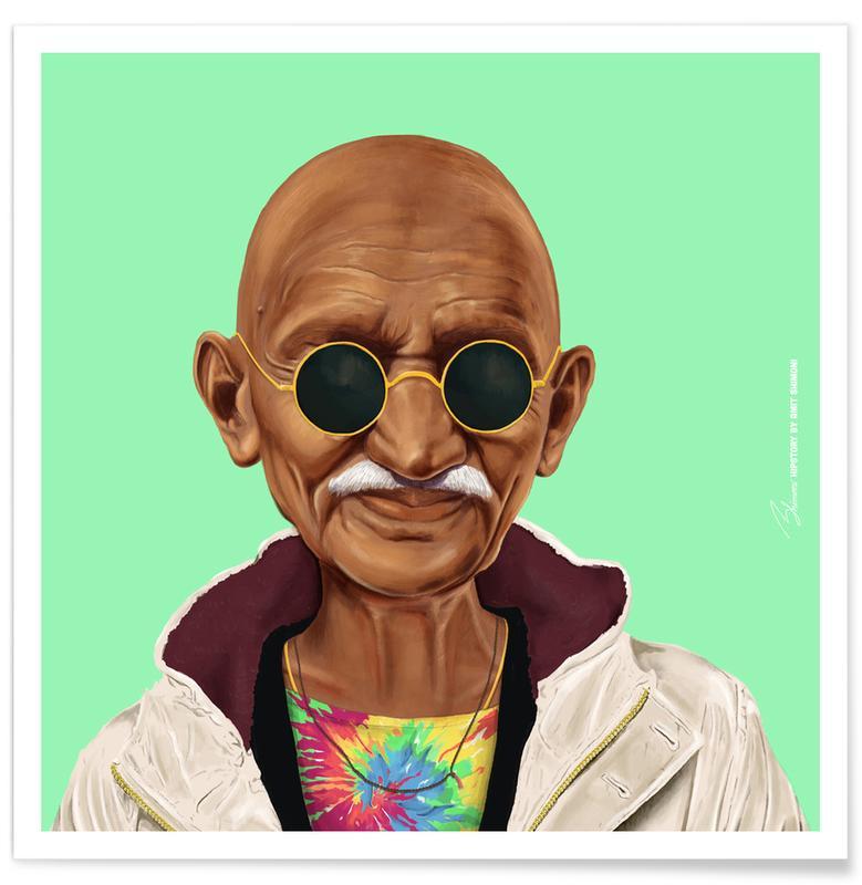 Personnages politiques, Pop Art, Gandhi affiche