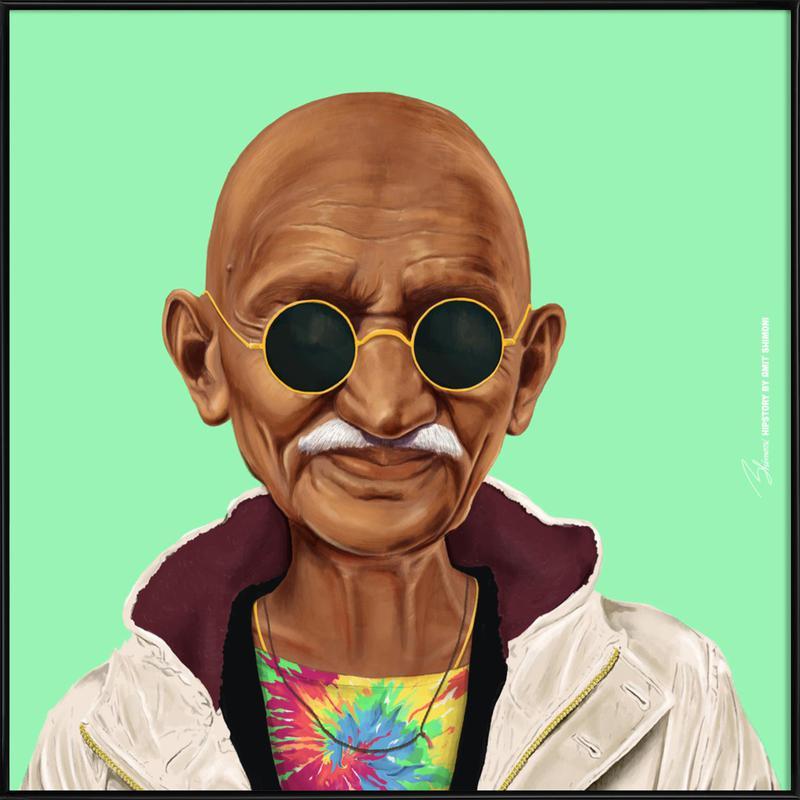Gandhi affiche encadrée