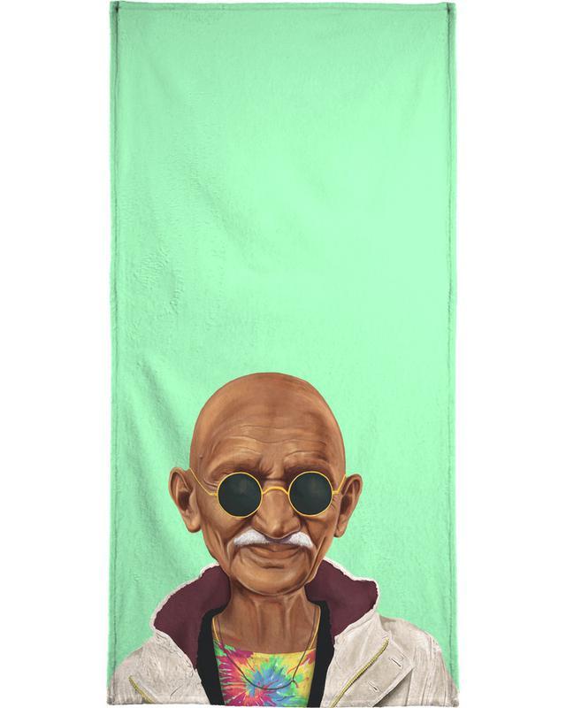 Personnages politiques, Pop Art, Gandhi serviette de bain