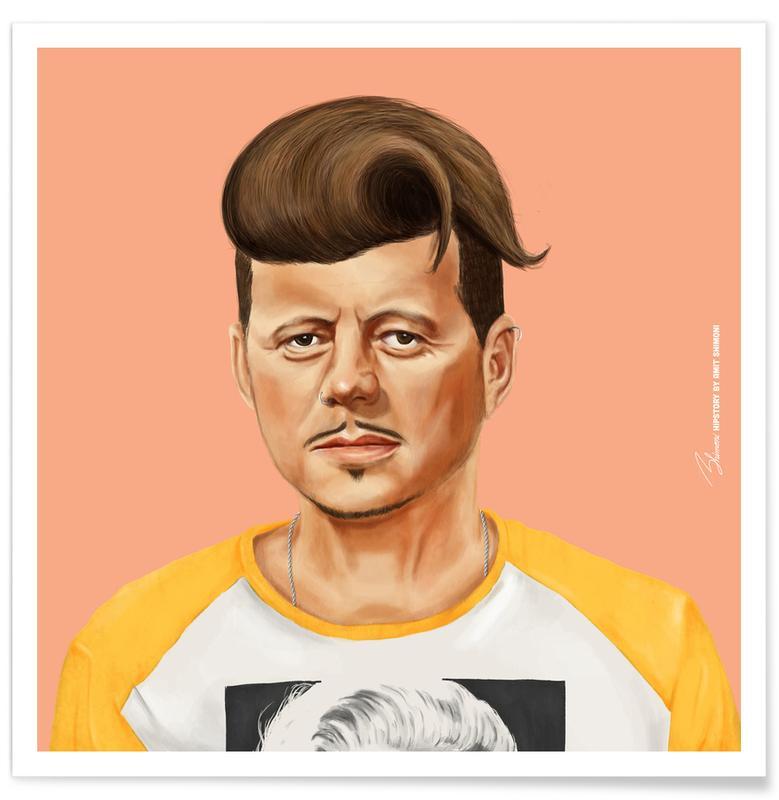 Personnages politiques, Pop Art, Kennedy affiche