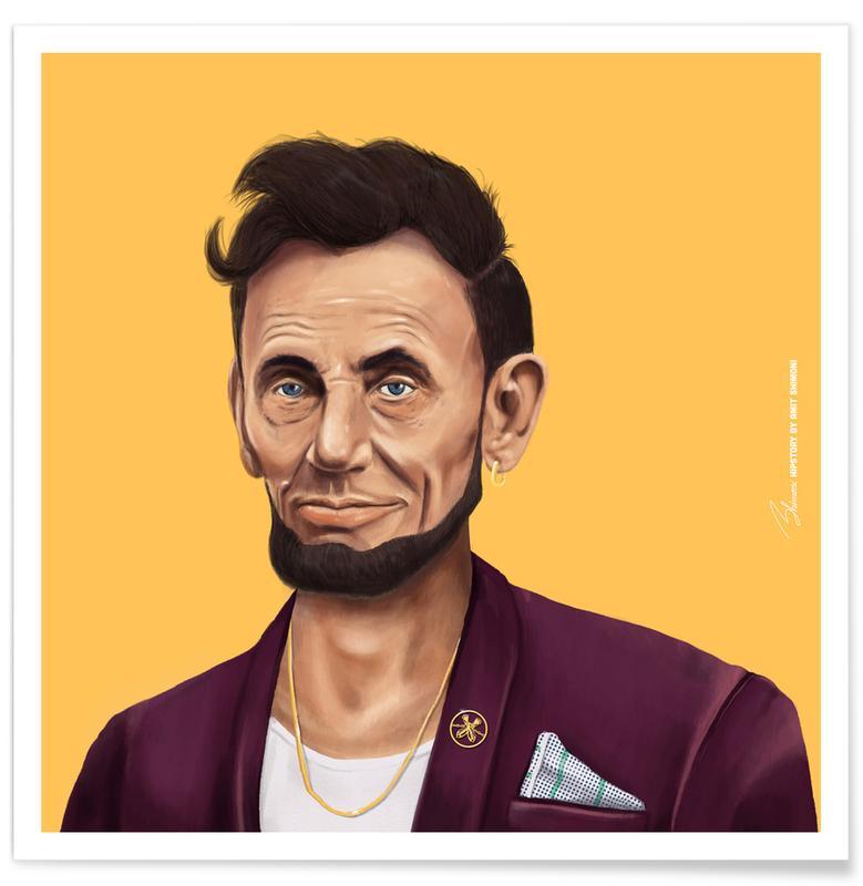 Personnages politiques, Pop Art, Lincoln affiche