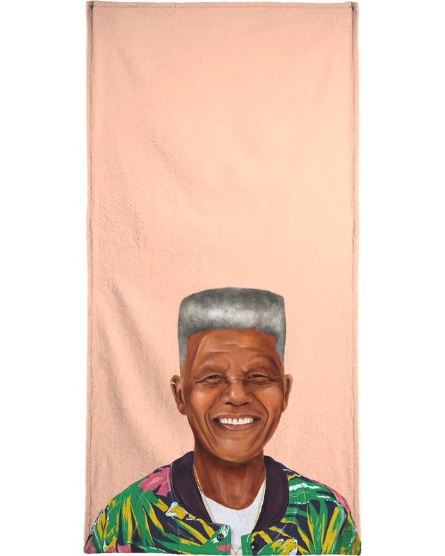 Personnages politiques, Pop Art, Mandela serviette de bain