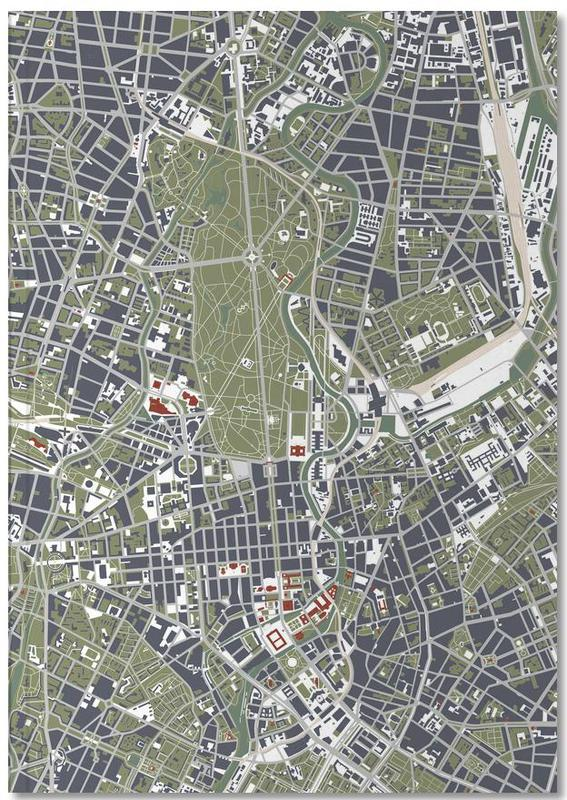 Berlin, Cartes de villes, BERLIN engraving Notebook