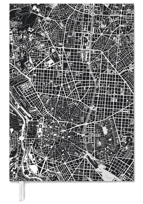 Schwarz & Weiß, Stadtpläne, Madrid, Madrid Black & White -Terminplaner