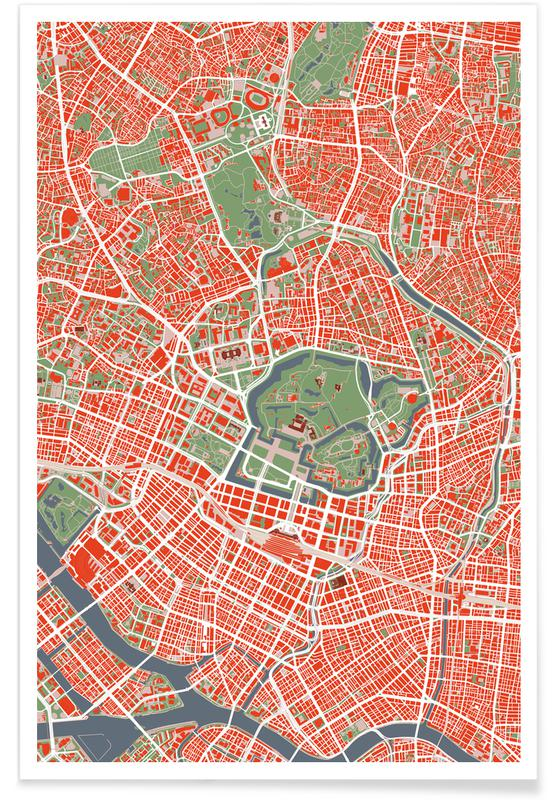 City Maps, Tokyo, Tokyo Classic Poster