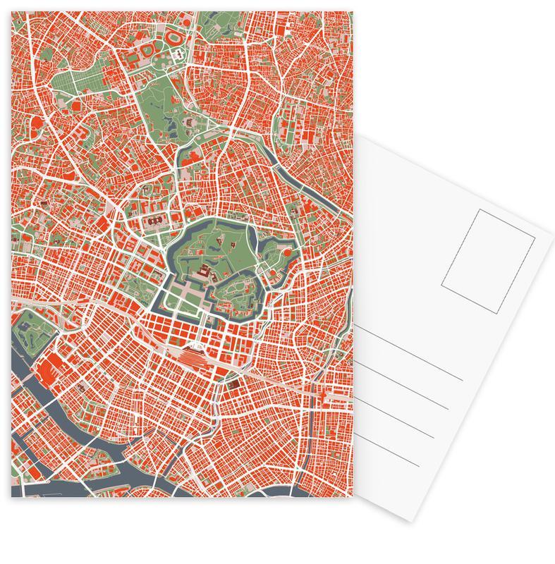 Stadtpläne, Tokio, Tokyo Classic -Postkartenset