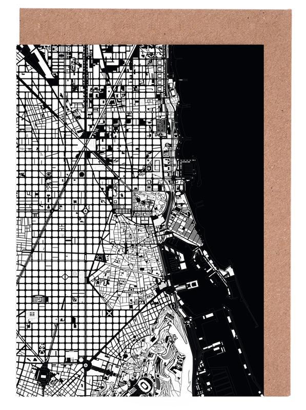 Barcelona Black & White -Grußkarten-Set