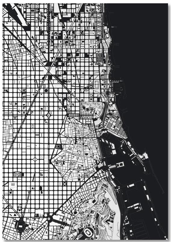 Noir & blanc, Cartes de villes, Barcelone, Barcelona Black & White bloc-notes