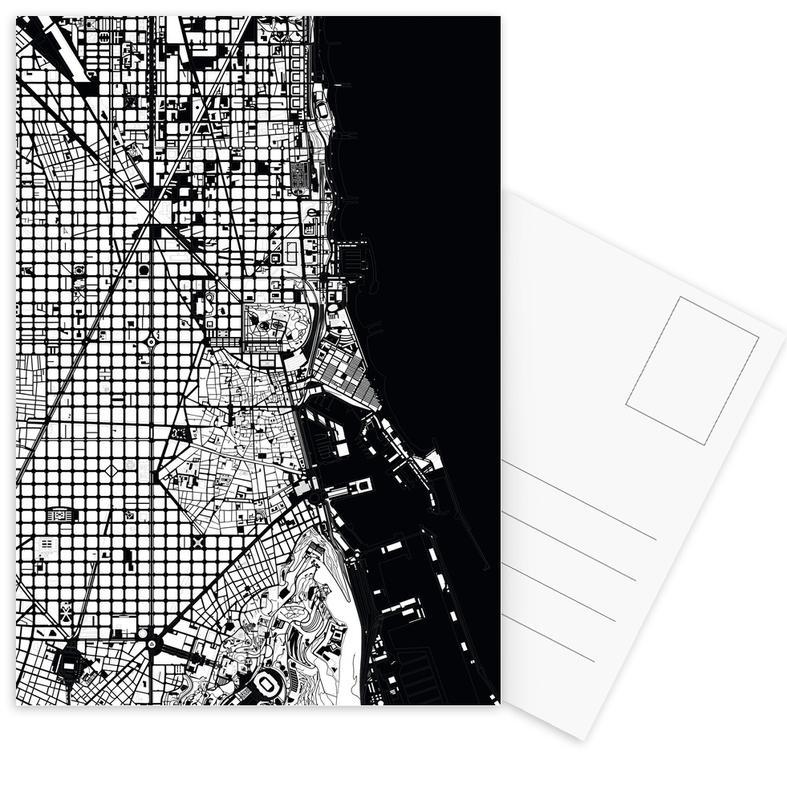 Barcelona Black & White -Postkartenset