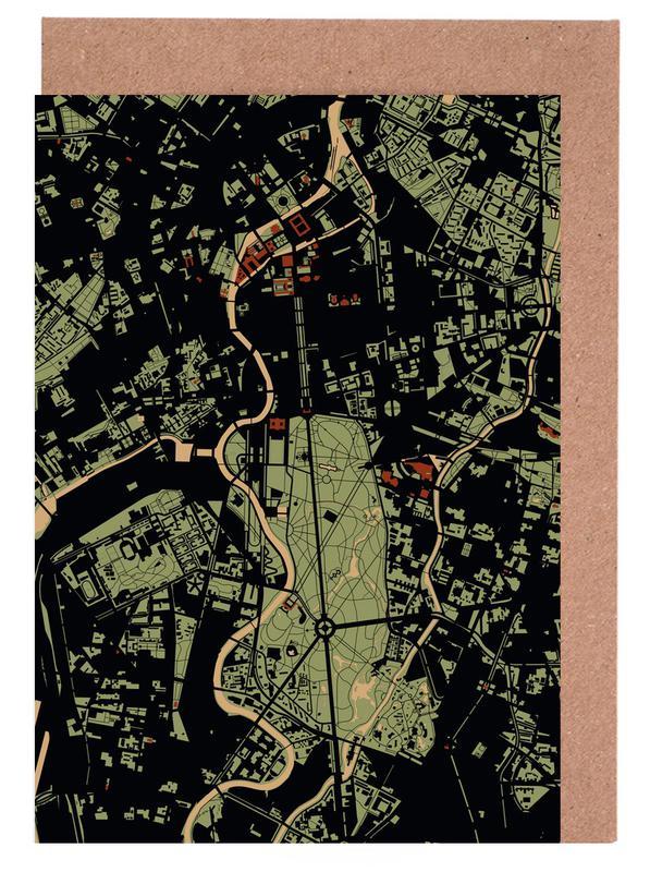Berlin, City Maps, Berlin Camouflage Greeting Card Set