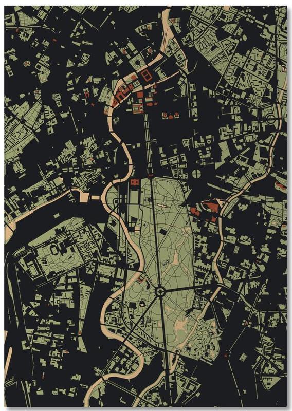 Berlin, Stadtpläne, Berlin Camouflage Notebook