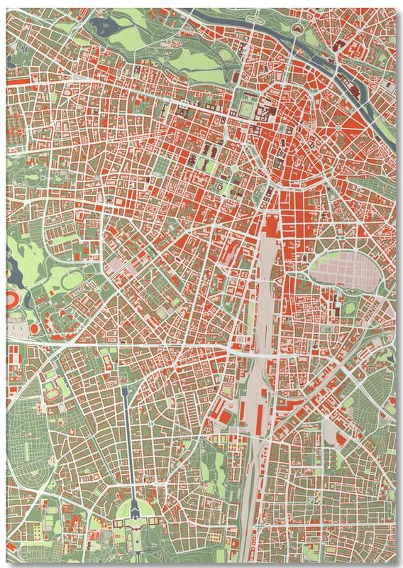 Stadskaarten, München, Munich Classic notitieblok