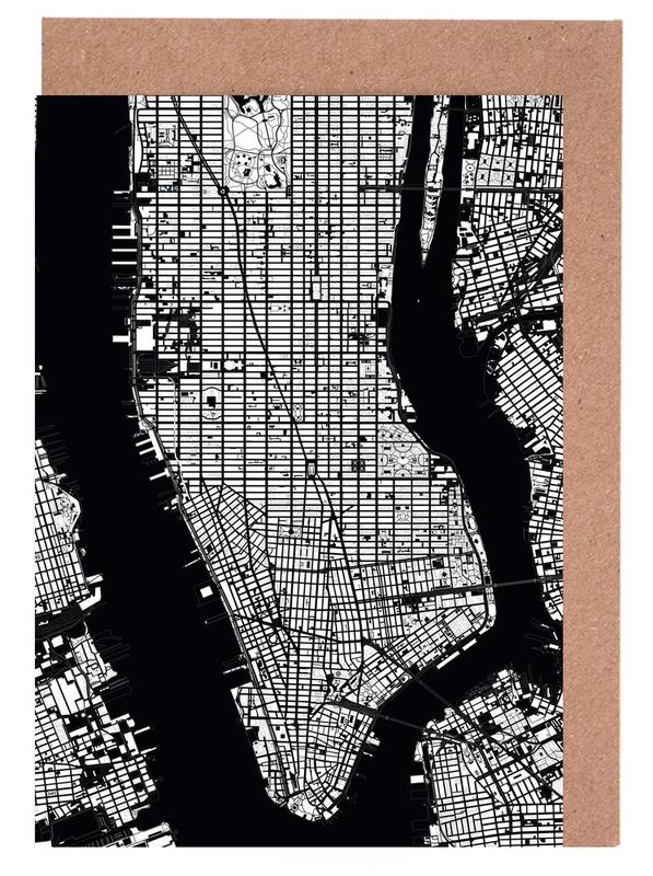 New York Black & White -Grußkarten-Set