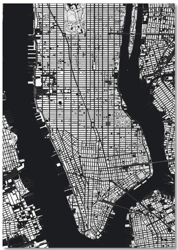 New York, Noir & blanc, Cartes de villes, New York Black & White bloc-notes