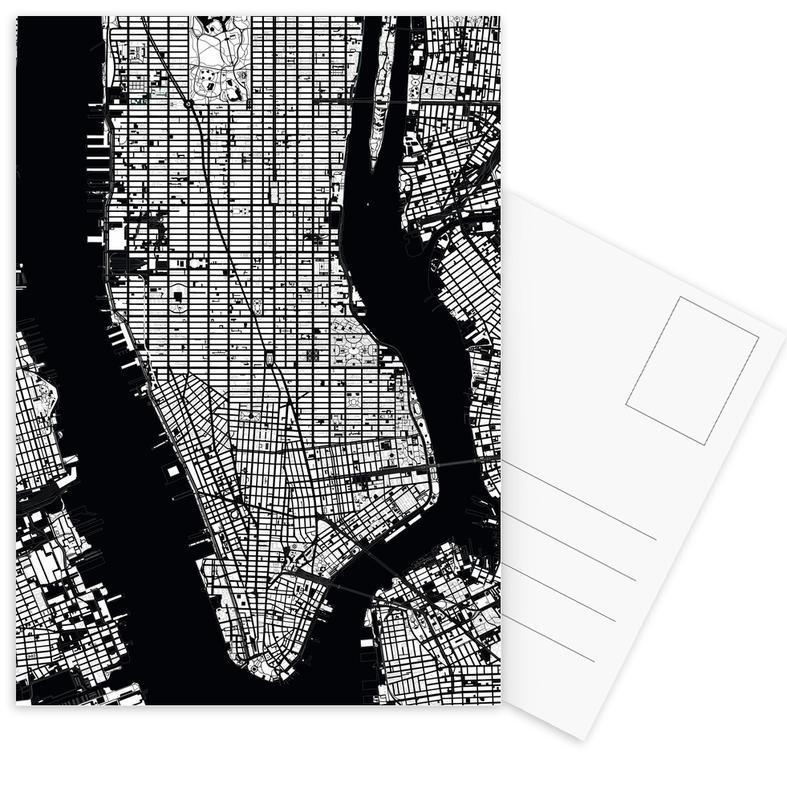 Stadtpläne, New York, Schwarz & Weiß, New York Black & White -Postkartenset