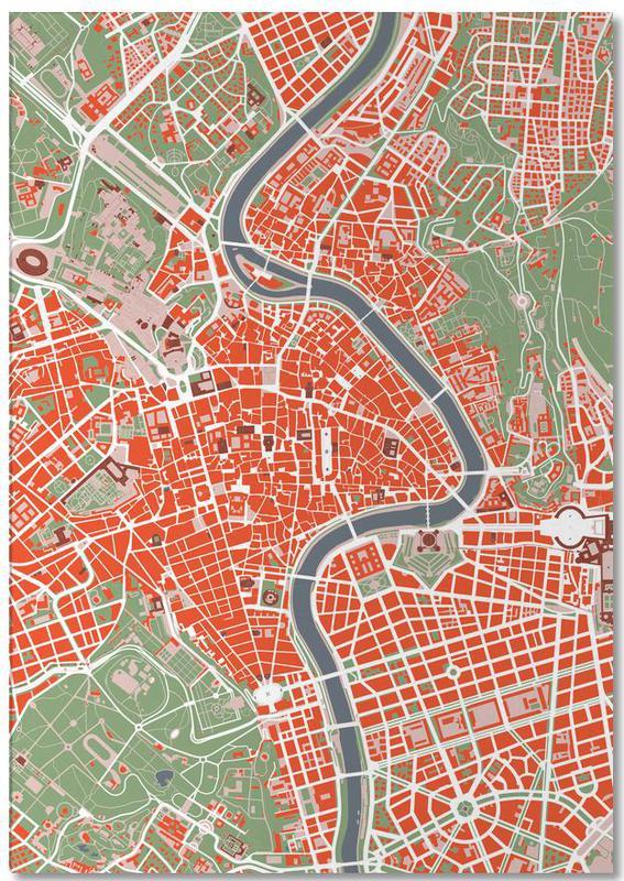 Cartes de villes, Rome, Rome Classic bloc-notes