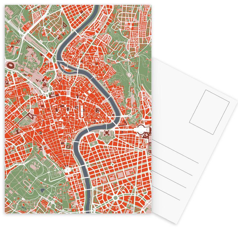 Stadtpläne, Rom, Rome Classic -Postkartenset