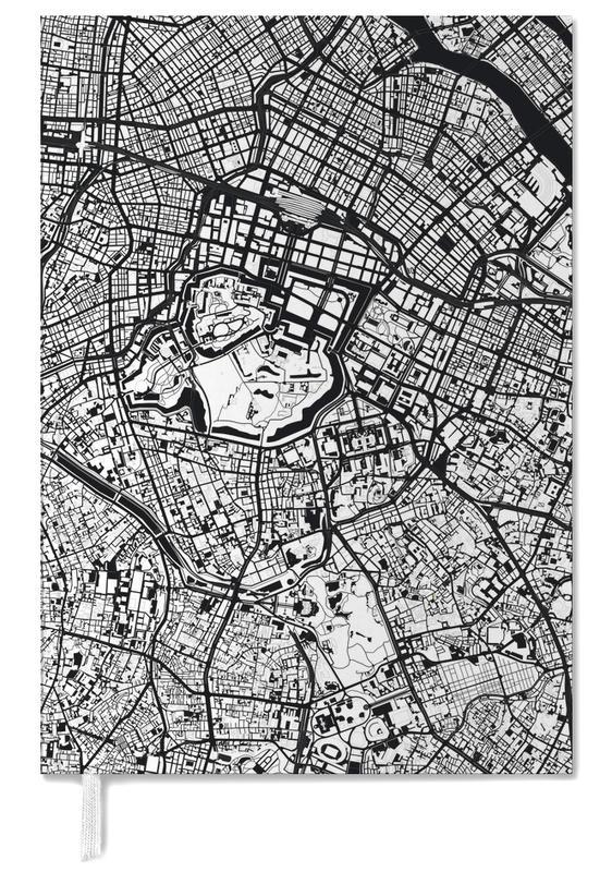 Schwarz & Weiß, Stadtpläne, Tokio, Tokyo Black & White -Terminplaner
