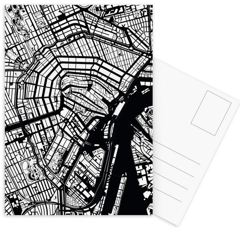 Schwarz & Weiß, Amsterdam, Amsterdam Black And White -Postkartenset
