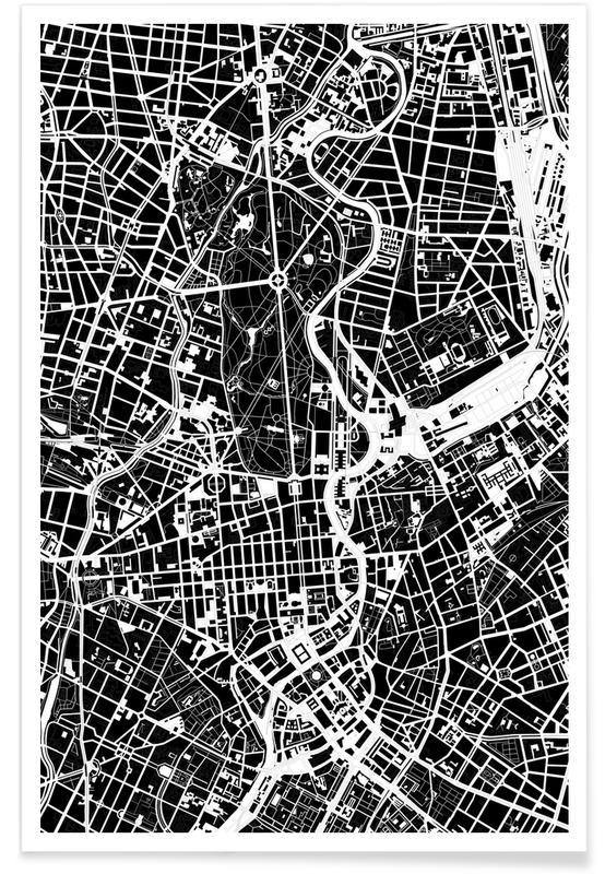 Berlin, Schwarz & Weiß, Berlin Black & White -Poster