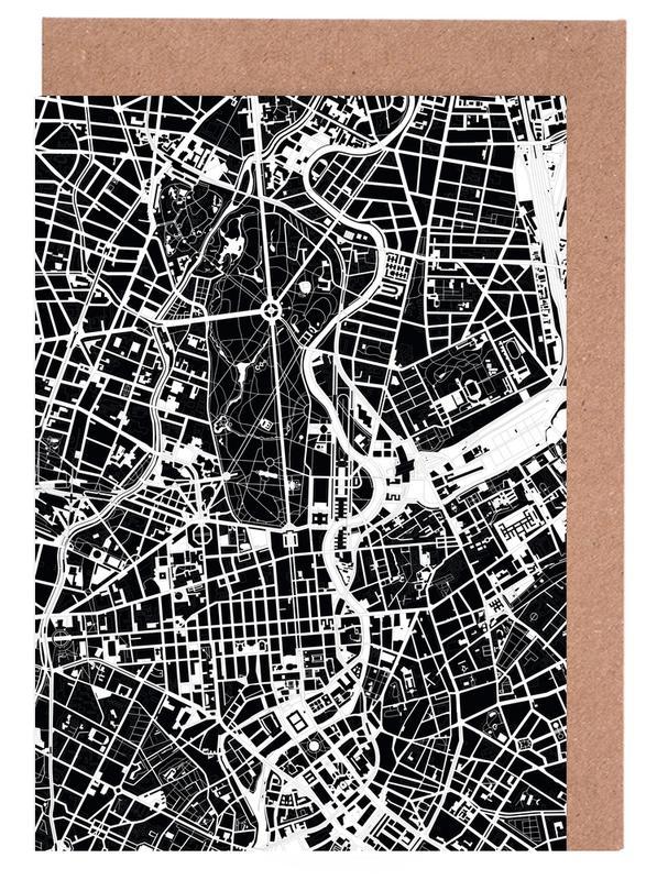 Berlin, Black & White, Berlin Black & White Greeting Card Set