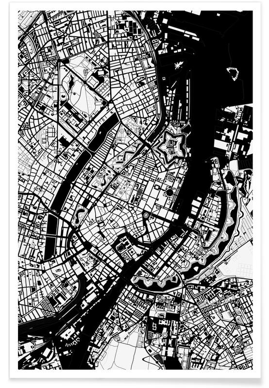 Copenhagen, Black & White, Copenhagen Black & White Poster