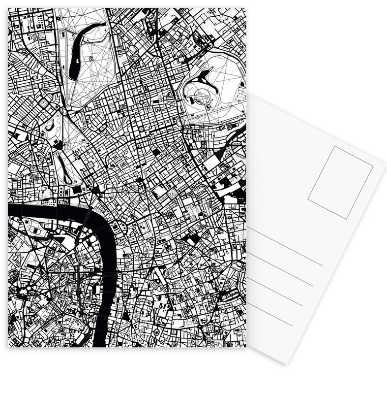 London, Schwarz & Weiß, London Black & White -Postkartenset