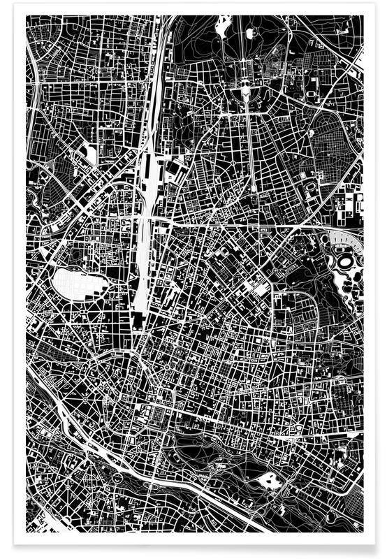 Munich, Black & White, Munich Black & White Poster