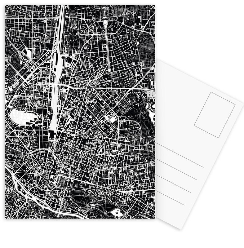 München, Schwarz & Weiß, Munich Black & White -Postkartenset