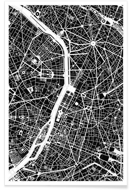 Schwarz & Weiß, Paris, Paris Black & White -Poster