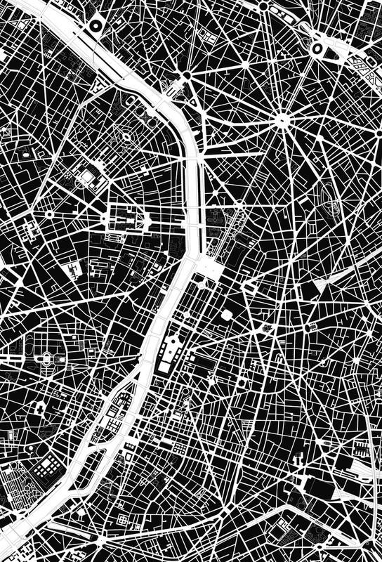 Paris Black & White Acrylic Print