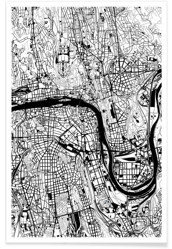 Black & White, Prague Black & White Poster