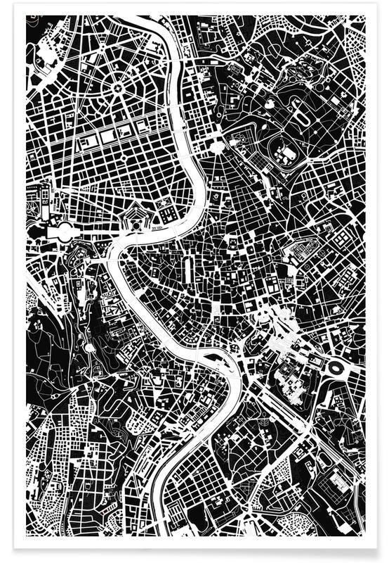Rome, Zwart en wit, Rome Black & White poster