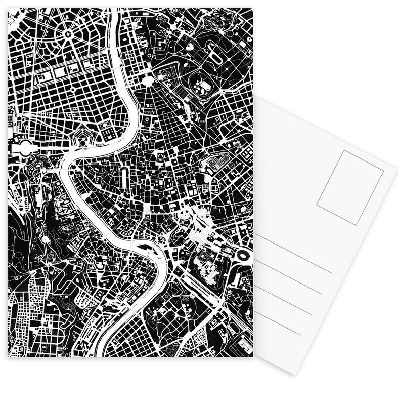 Rom, Schwarz & Weiß, Rome Black & White -Postkartenset