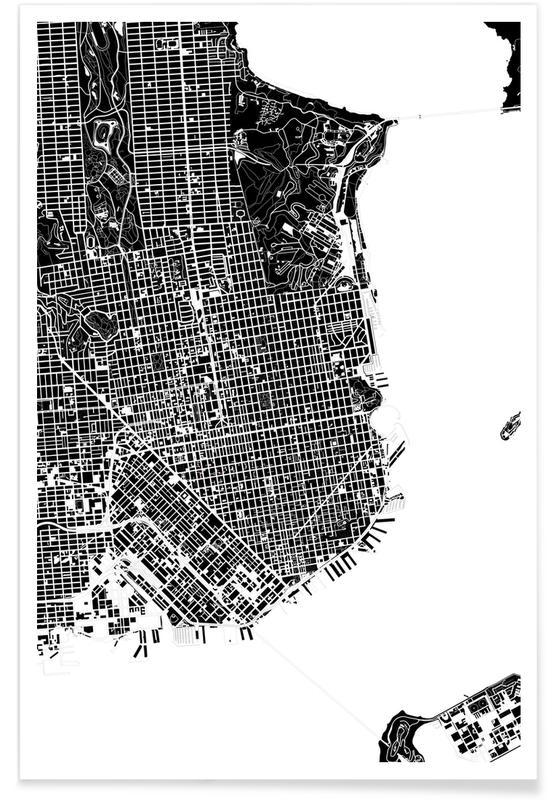 San Francisco, Schwarz & Weiß, San Francisco Black & White -Poster
