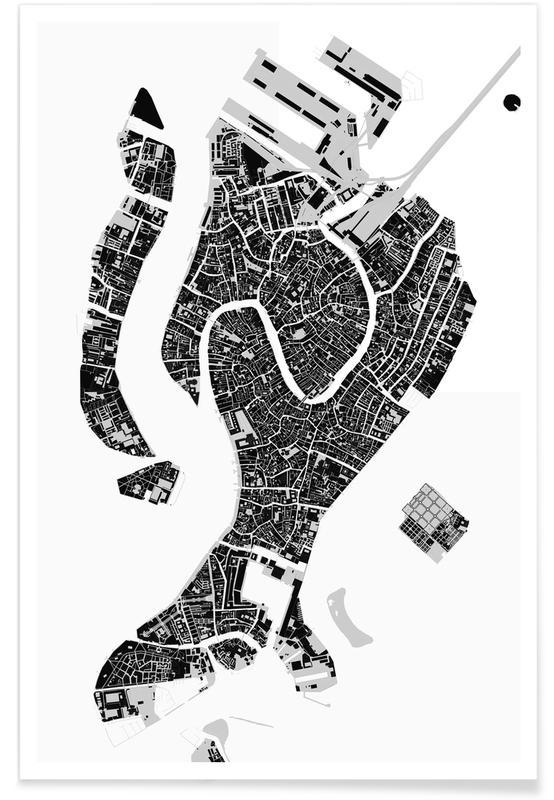 Venedig, Schwarz & Weiß, Venice Black & White -Poster