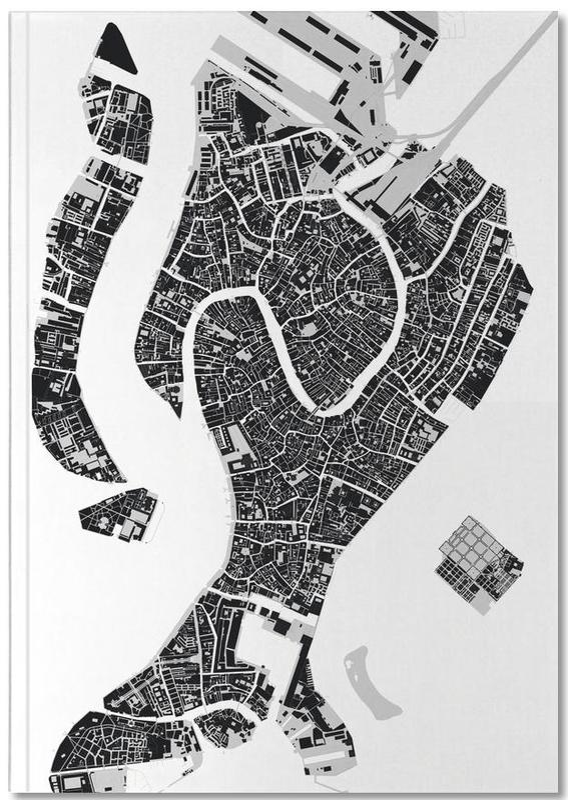 Venedig, Schwarz & Weiß, Venice Black & White Notebook