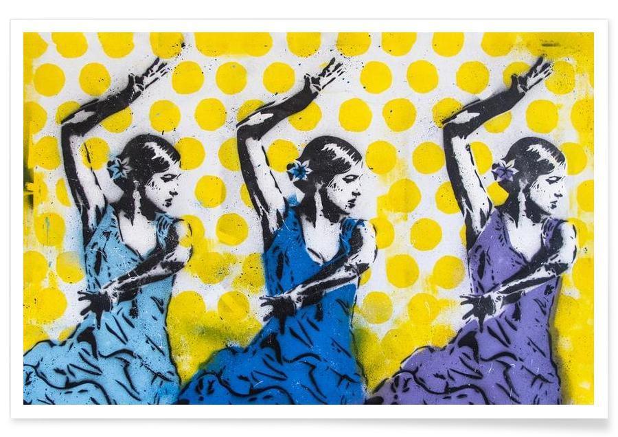 Danse, Street Art, Las Tres affiche