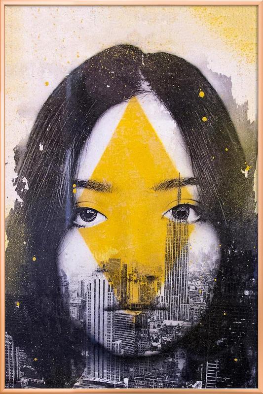 Losange Poster in Aluminium Frame