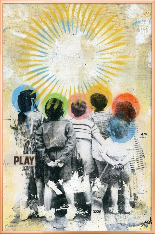 Play poster in aluminium lijst