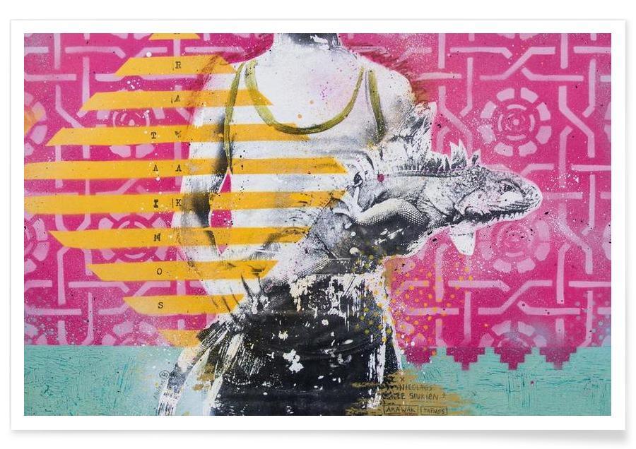 Street Art, arawak tainos affiche