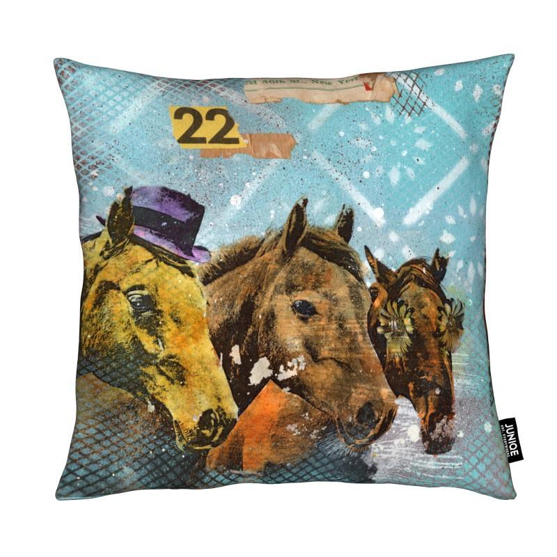 Chevaux, Art pour enfants, Horses 22 coussin