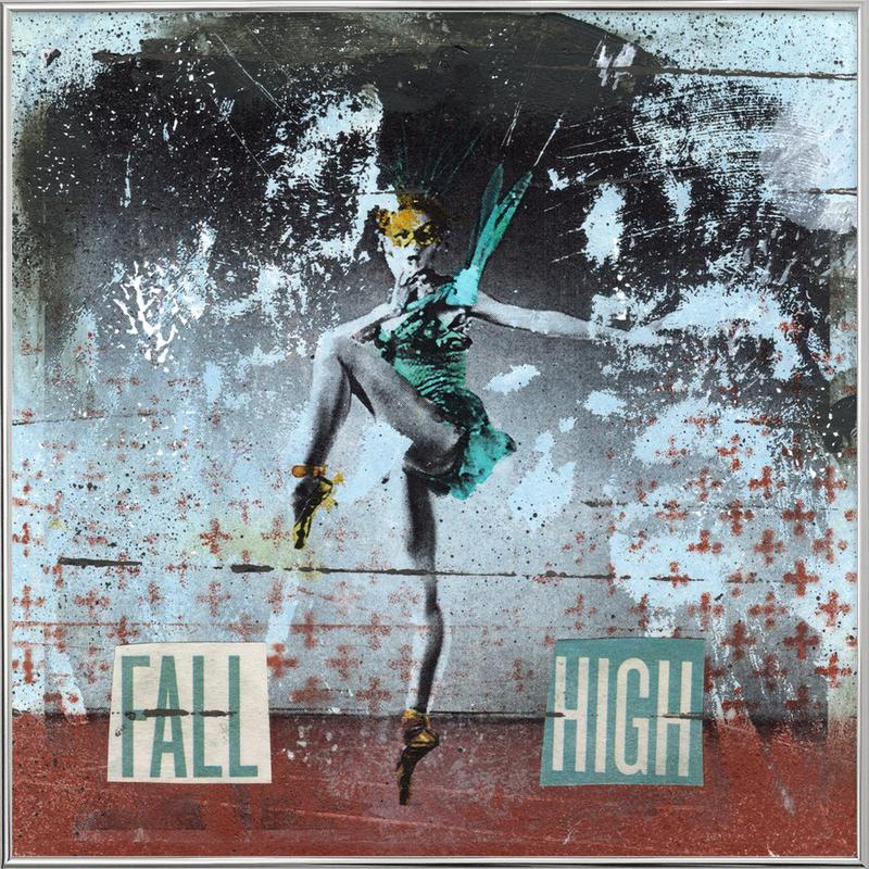 Fall High -Poster im Alurahmen