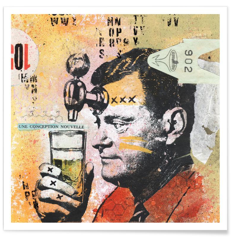 Bier, Grappig, Une Conception Nouvelle poster