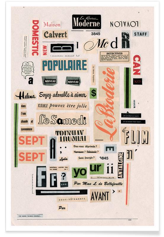 Typo Vintag -Poster
