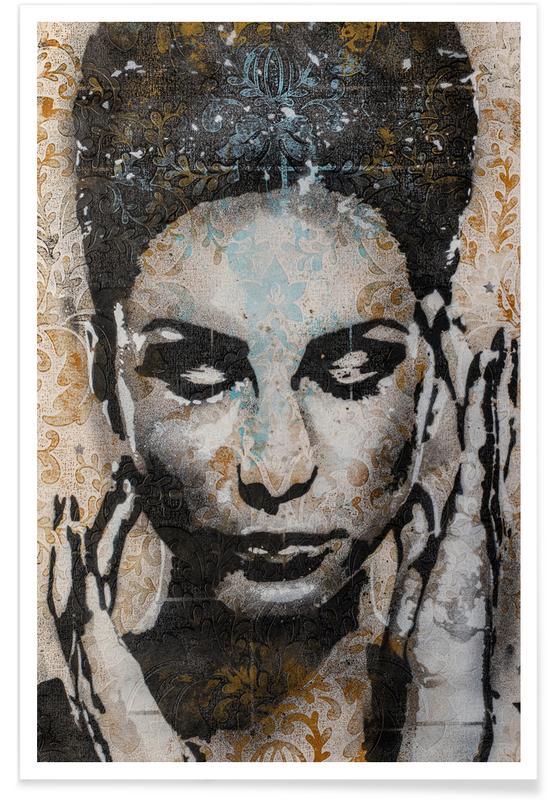 Porträts, Street Art, Urban 4 -Poster