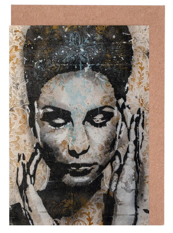Portraits, Street Art, Urban 4 cartes de vœux