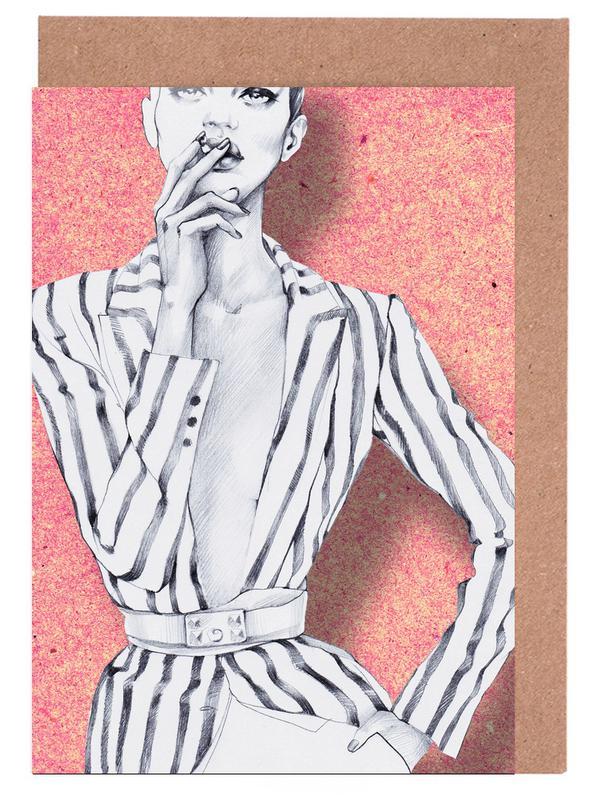 Fashion Illustrations, Gentlewoman Greeting Card Set