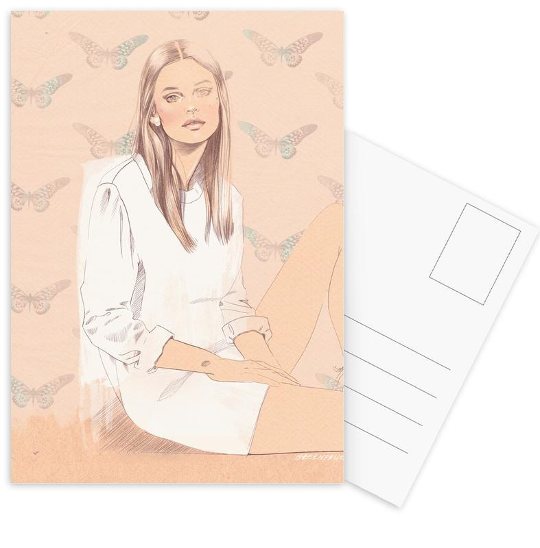 Modeillustration, Butterflies -Postkartenset